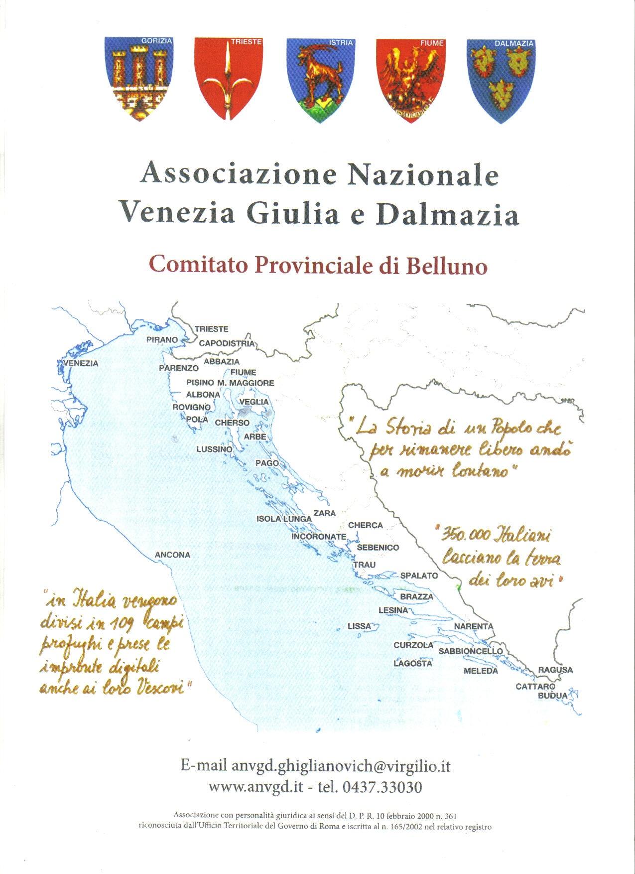 Dalmazia Italiana Cartina.Giorno Del Ricordo 10 02 2017 Artiglieri Belluno